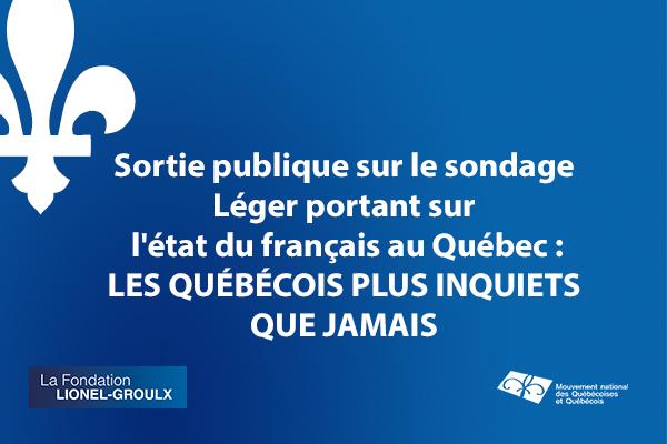 Sondage sur l'état du français au Québec